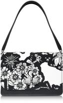 Carven Black and White Printed Leather Shoulder Bag