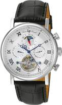 Lucien Piccard Men's 'Ottoman' Automatic Stainless Steel and Black Leather Casual Watch (Model: LP-40012A-02S)