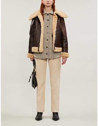 Sandro Aviator sheepskin jacket