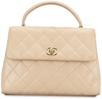 Chanel Pre Owned 1998 quilted CC top-handle bag