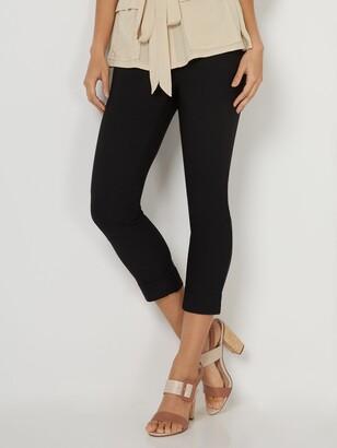 New York & Co. Whitney High-Waisted Pull-On Slim-Leg Capri Pant