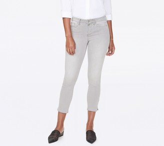 NYDJ Sheri Slim Ankle Jeans with Side Slits - Gale
