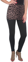 Magid Black Leopard Skirted Leggings - Plus Too