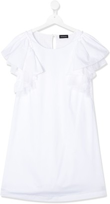 MonnaLisa TEEN frill sleeved dress