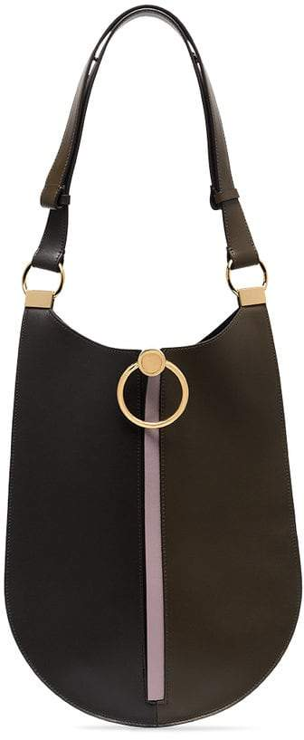 Marni black, brown and lilac earring leather bag