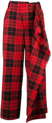 Monse Tartan Print Trousers