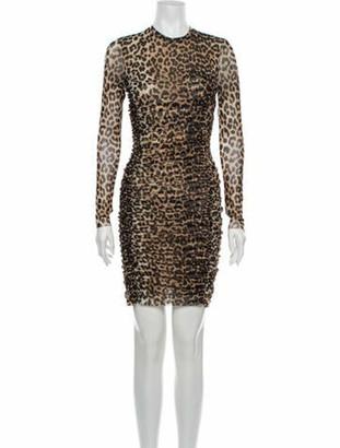 Ganni Animal Print Mini Dress w/ Tags Brown