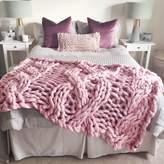 Lauren Aston Giant Cable Knit Blanket
