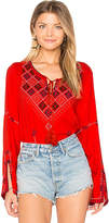 Central Park West Cozumel Blouse in Red. - size M (also in S,XS)