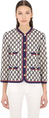 Gucci Gg Supreme Cotton Blend Macrame Jacket