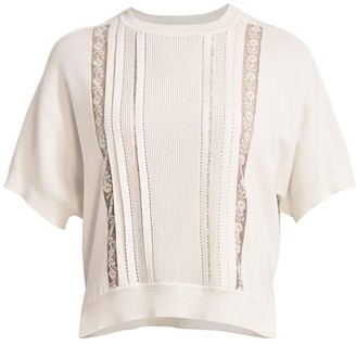 Chloé Iconic Lace Trim Pullover