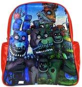 2buymore Custom School Bag Backpack Five nights at freddy's Multi Pockets Backpacks PU Leather 20.1 Oz