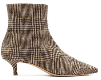 Giuliva Heritage Collection Point-toe Tweed Ankle Boots - Brown Multi