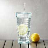 Crate & Barrel Tumbler with Straw Acrylic Aqua 23 oz
