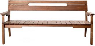 Alaterre Otero Eucalyptus Wood Outdoor 3-Seat Bench