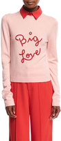 Alice + Olivia Dia Big Love Collared Stretch-Cashmere Sweater