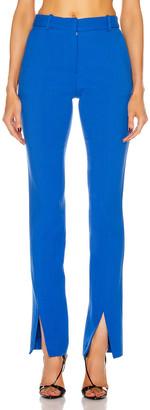 Victoria Beckham Front Split Trouser in Cobalt   FWRD