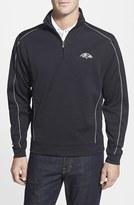 Cutter & Buck Men's Big & Tall 'Baltimore Ravens - Edge' Drytec Moisture Wicking Half Zip Pullover