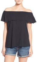 Rebecca Minkoff Women's 'Diosa' Off The Shoulder Cotton Top