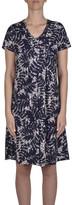 Jump Short Sleeve Leaf Jersey Dress