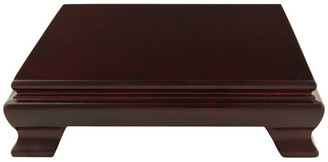 """Oriental Furniture Rosewood Square Base Stand, 6"""""""
