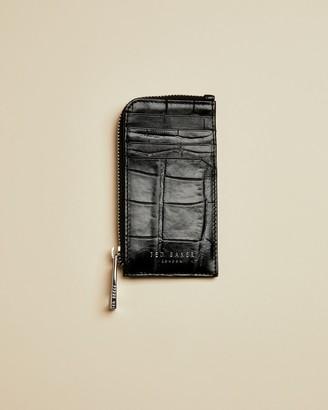 Ted Baker SQUERE Metallic leather zip around wallet