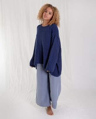 Beaumont Organic Blue Alessandra Cotton Jumper - Blue / Medium - Blue