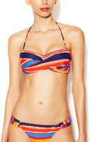 Shoshanna Cape Town Stripe Bandeau Bikini Top
