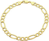 JCPenney FINE JEWELRY Infinite Gold 14K Yellow Gold Hollow Figaro Chain Bracelet