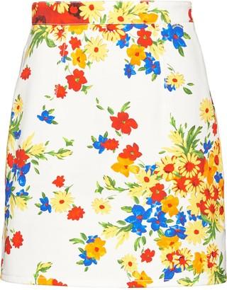 Miu Miu floral mini skirt