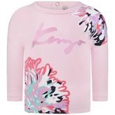 Kenzo KidsBaby Girls Pink Floral Print Top