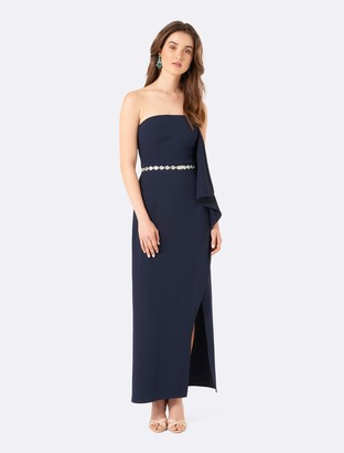 Ever New Carrie Waterfall Strapless Maxi Dress