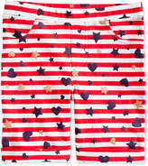 Epic Threads Little Girls Striped Printed Bermuda Shorts, Created for Macy's