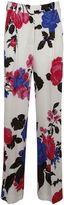 MSGM Floral Print Straight Trousers
