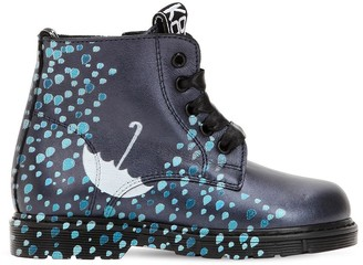 Be Kool Rain Printed Leather Ankle Boots