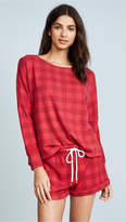 Honeydew Intimates Plaid Shorty PJ Set