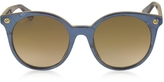 Gucci GG0091S Acetate Round Women's Sunglasses