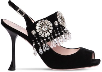 Roger Vivier 100mm Grande Soiree Embellished Sandals