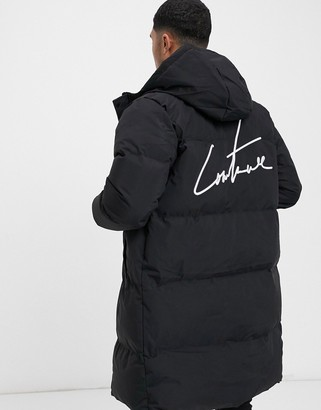 The Couture Club contrast panel puffer longline jacket