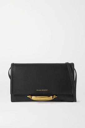 Alexander McQueen The Story Leather Shoulder Bag - Black