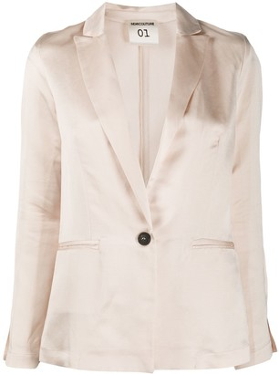 Semi-Couture Tailored Buttoned Blazer