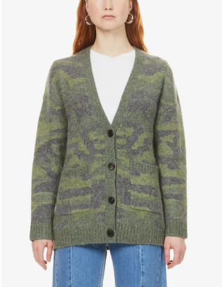 Rails Runi camouflage-pattern knitted cardigan