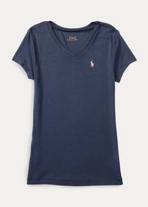 Ralph Lauren Cotton-Modal V-Neck Tee