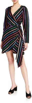 Tanya Taylor Magnolia Stripe Wrap Dress