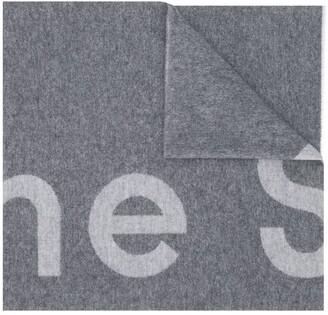 Acne Studios Logo-Jacquard Scarf