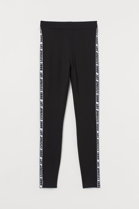 H&M Viscose-blend Leggings - Black