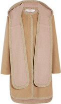 See by Chloe Brushed wool-blend hooded coat