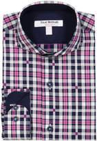 Isaac Mizrahi Plaid Buttons Fashion Shirt