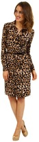 Anne Klein Animal Print Belted Dress (Camel Multi) - Apparel