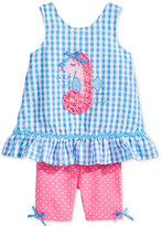 Nannette 2-Pc. Seahorse Tunic and Shorts Set, Baby Girls (0-24 months)